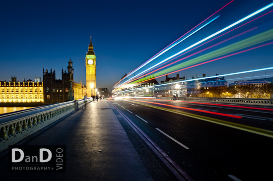 Commercial photography London big ben houses of parliament night