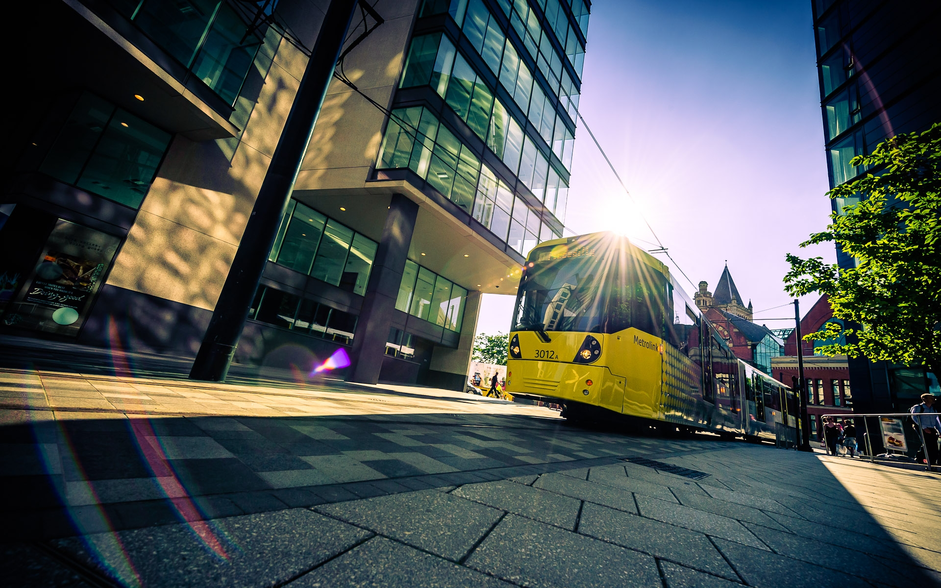 Commercial photo of Manchester Metrolink tram