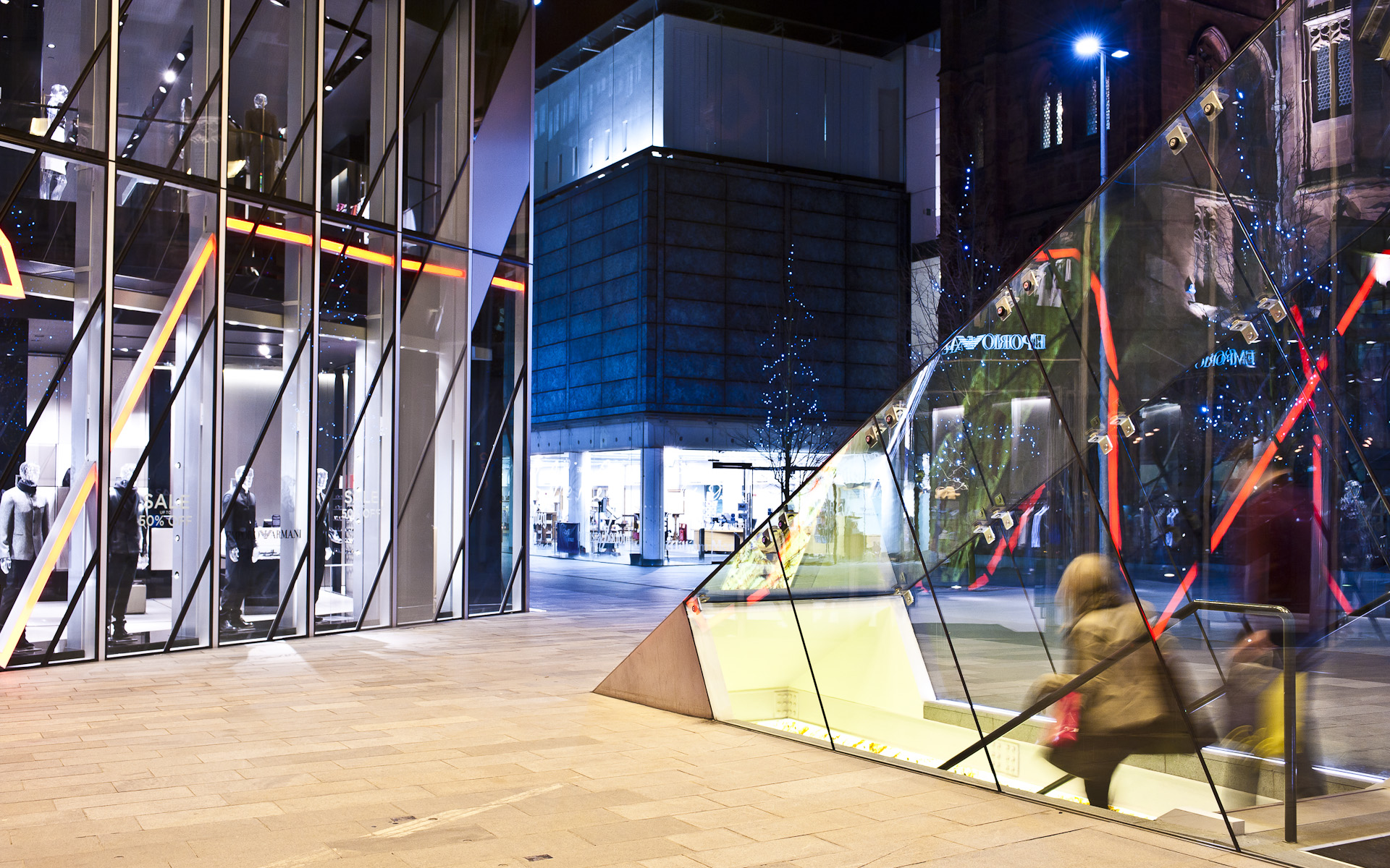 Australasia glass entrance Manchester Spinningfileds architectural photography