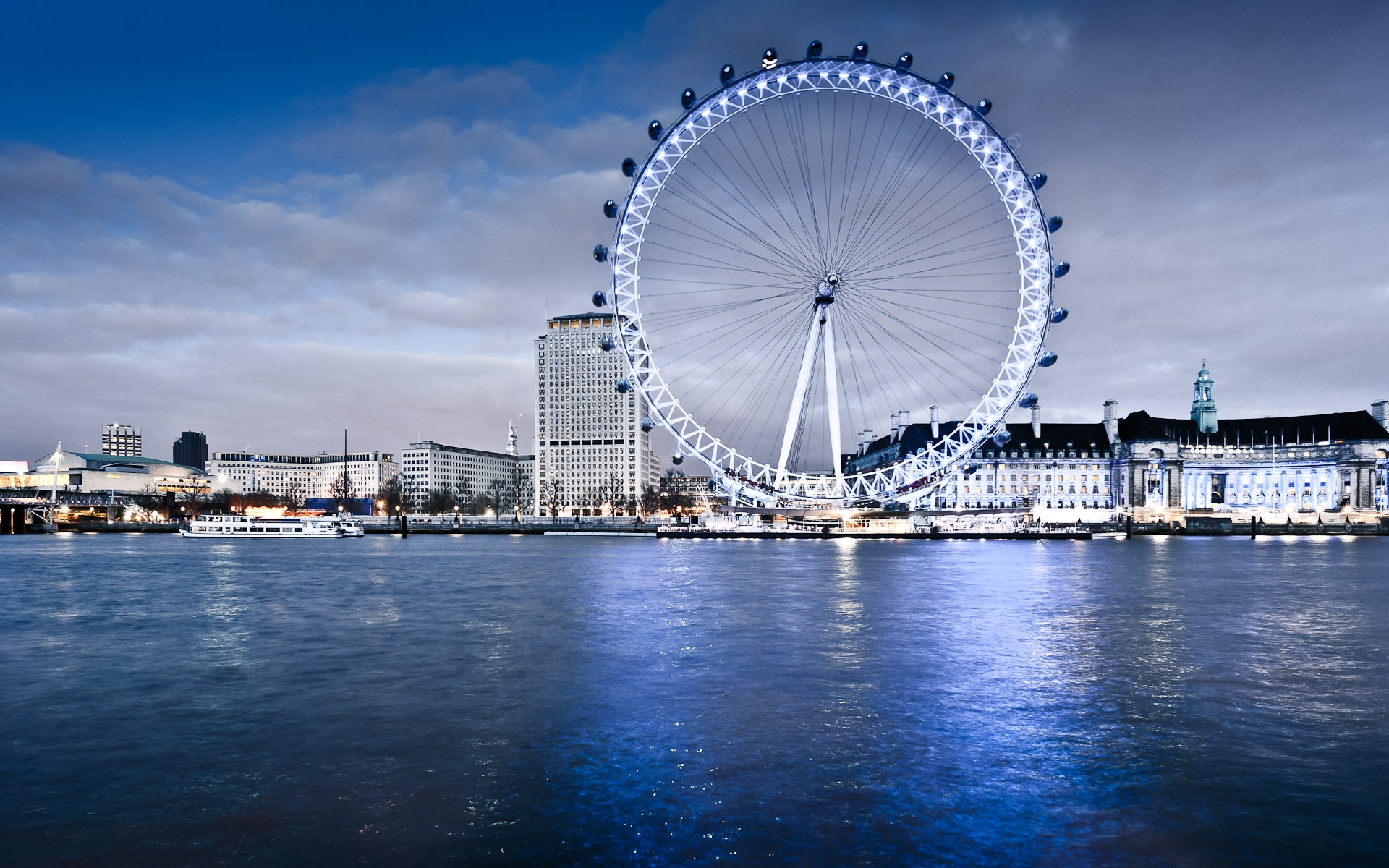 London eye across thames