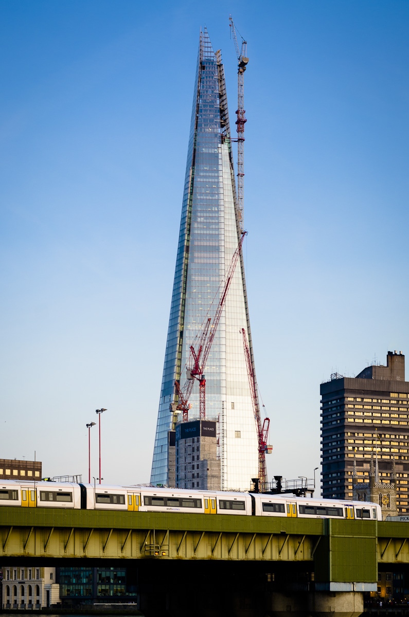 The shard London under construction