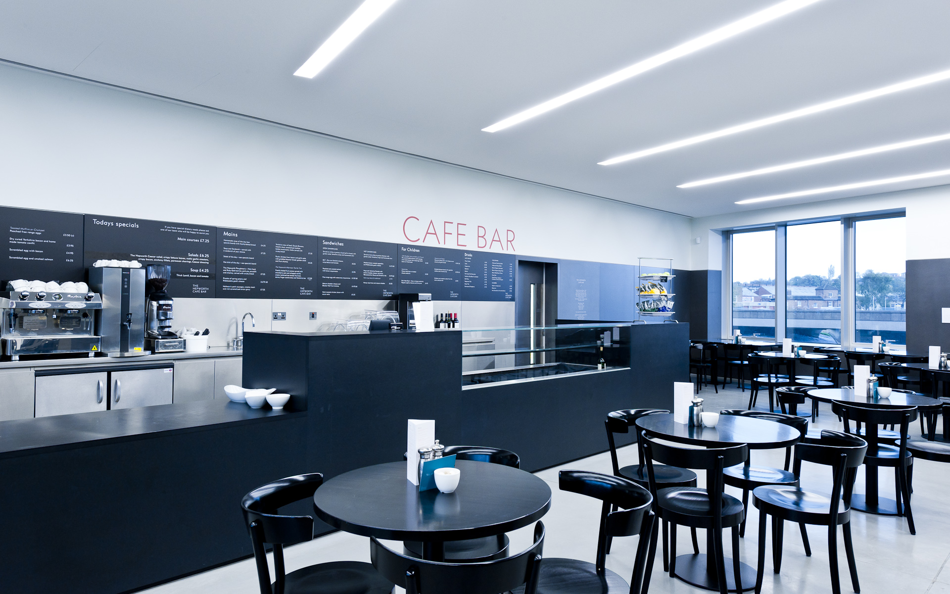 Hepworth Wakefield interior architectural photography cafe shoot