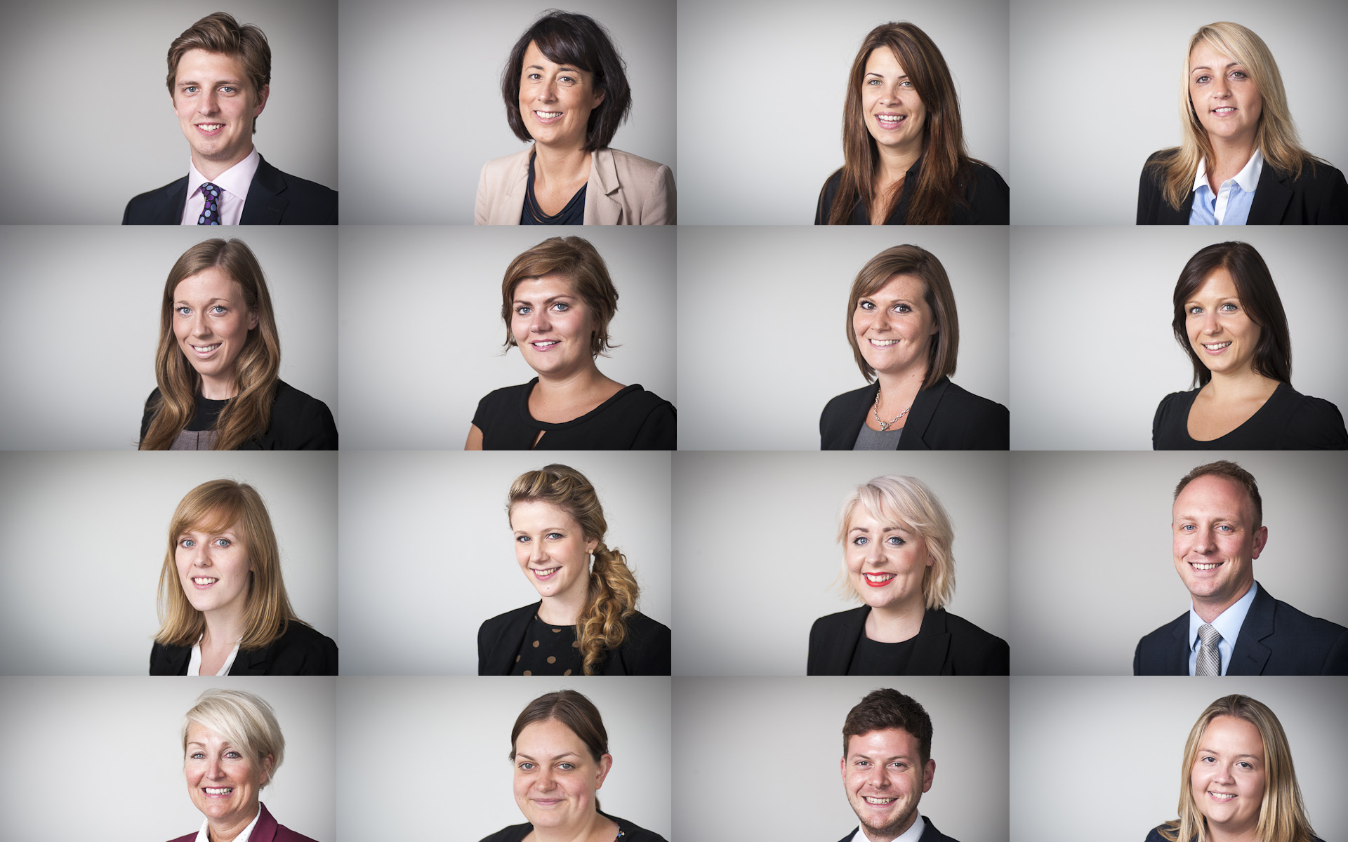 multiple headshots of corporate business staff