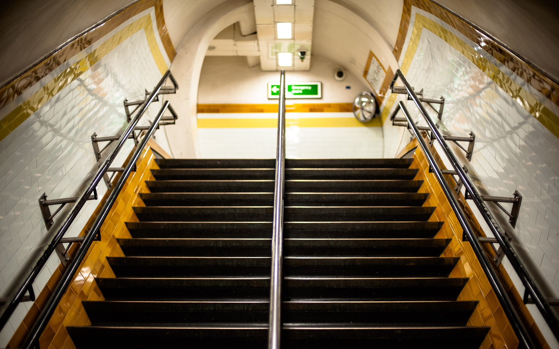 London underground tube steps